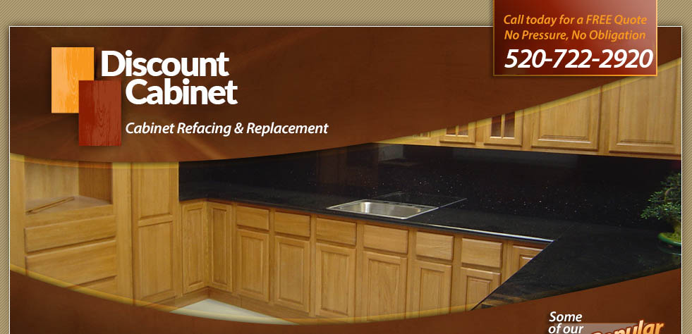 Kitchen cabinet refacing, from Discount Cabinet, is a great way to upgrade your kitchen without the expense and inconvenience of remodeling. Based in Tucson, Arizona.
